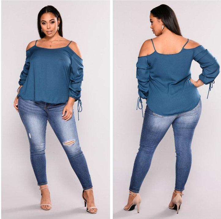 2542d9f822b Plus Size 2XL-7XL Hole Jeans Slim Women s Jean 2018 Hot New Tight Denim  Pants Fashion Casual Ladies Jeans Plus Size Jeans Fat Women Jeans Hole Jeans  Online ...