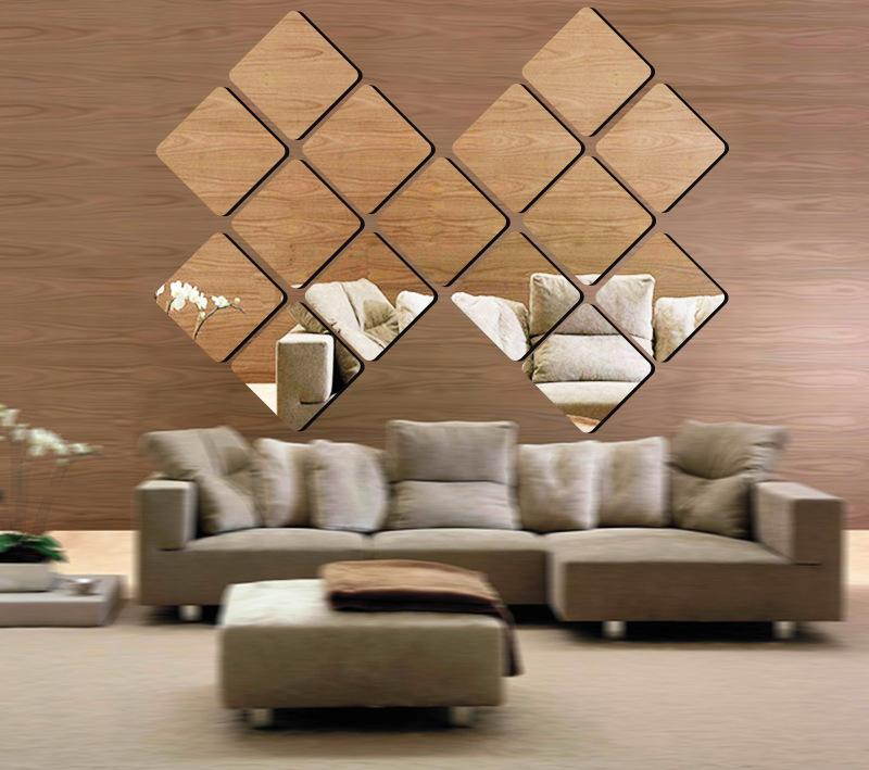 15cm Square Mirror Wholesale 3d Arcylic Decorative Mirrors 1mm