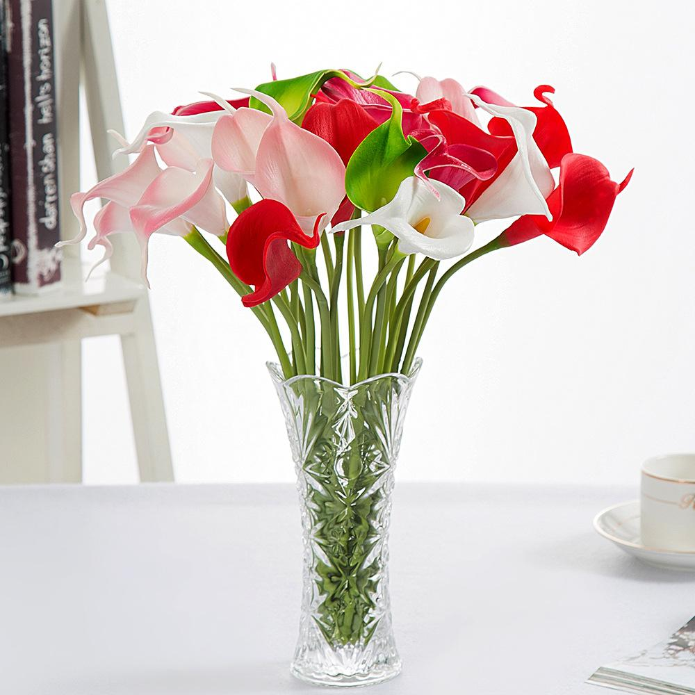 2018 wholesale simulation calla lily artificial flower pu real home 2018 wholesale simulation calla lily artificial flower pu real home party wedding decoration flowers mothers day bouquet flowers from sunyunqinglina izmirmasajfo