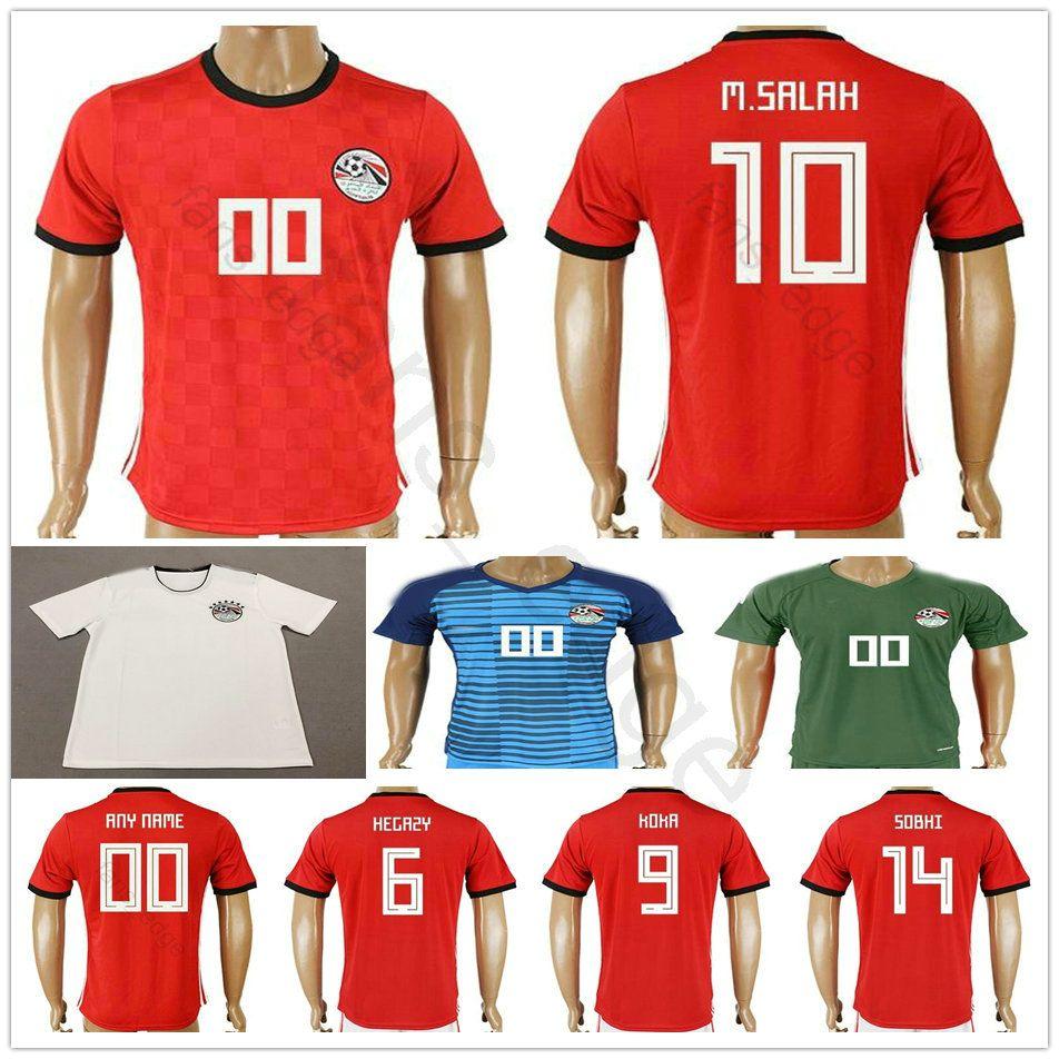 2018 Egypt World Cup Soccer Jersey 10 M.SALAH 11 KAHRABA 17 M.ELNENY 14  RAMADAN SOBHI ELMOHAMADY Custom Red White Football Shirt UK 2019 From  Fans edge c2f0c5c87