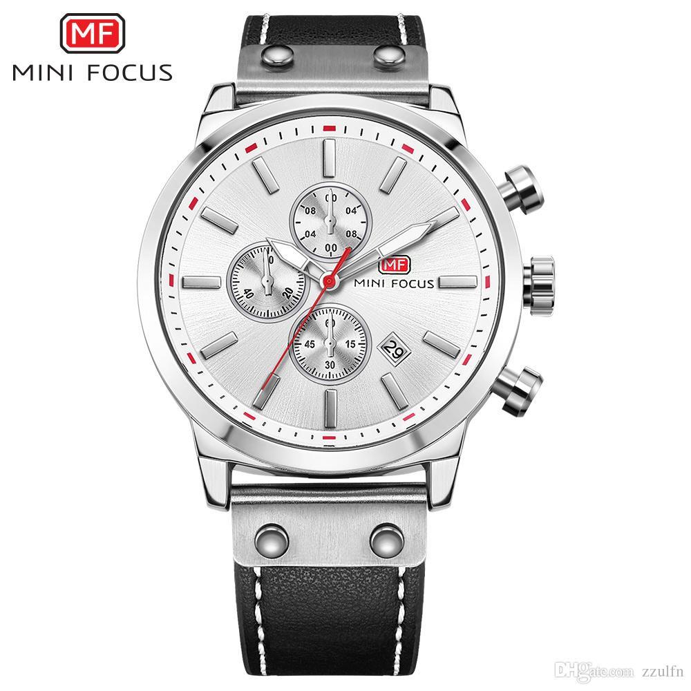 d3d5d6a4f649 Compre MINI FOCUS Reloj De Cuarzo Analógico Cronógrafo Para Hombres Con  Fecha