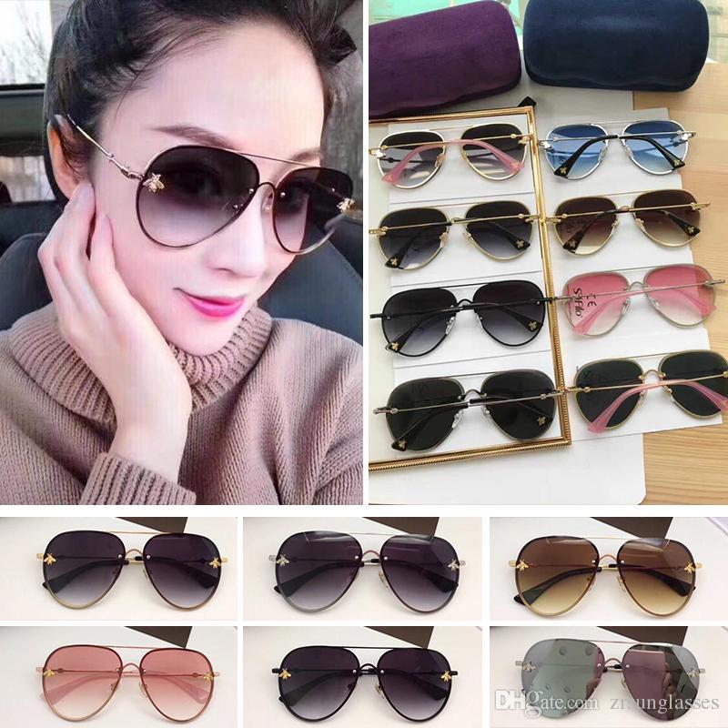 Großhandel 2201 Neue Modedesigner Sonnenbrille Rahmenlose Gucci ...