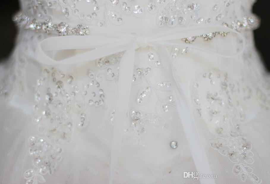 De gama alta personalizada simple novia cinturón de diamantes cinturón de boda vestido accesorios correa de cristal cintura de la boda