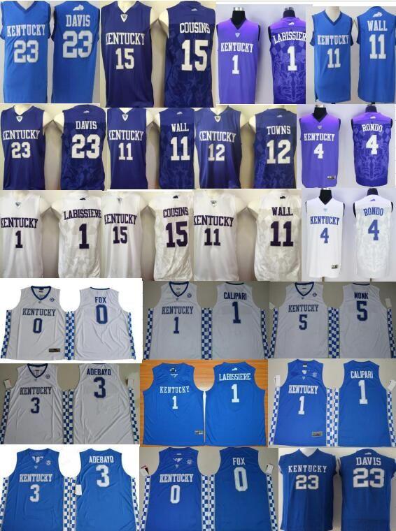 3ce941372973 ... 2018 demarcus cousins 11 john wall 23 anthony davis kentucky wildcats  college basketball jarred vand