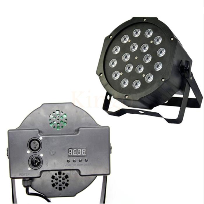18*3W RGB Led Stage Light 110V 220V High Power Par Light With DMX512 Master Slave Flat DJ Equipments for Party Disco wedding