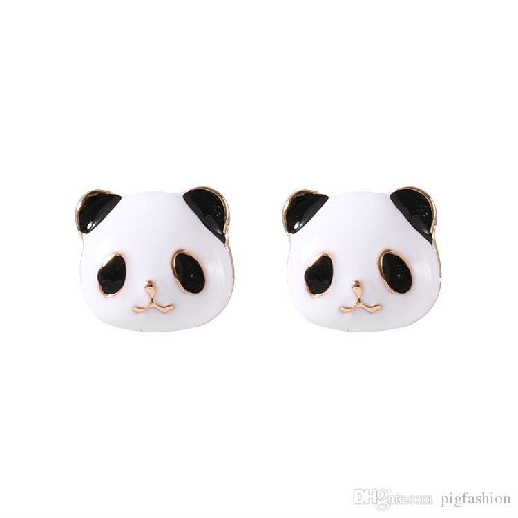 Compre Dibujos Animados Lindo Panda Pendientes Corea Del Oído