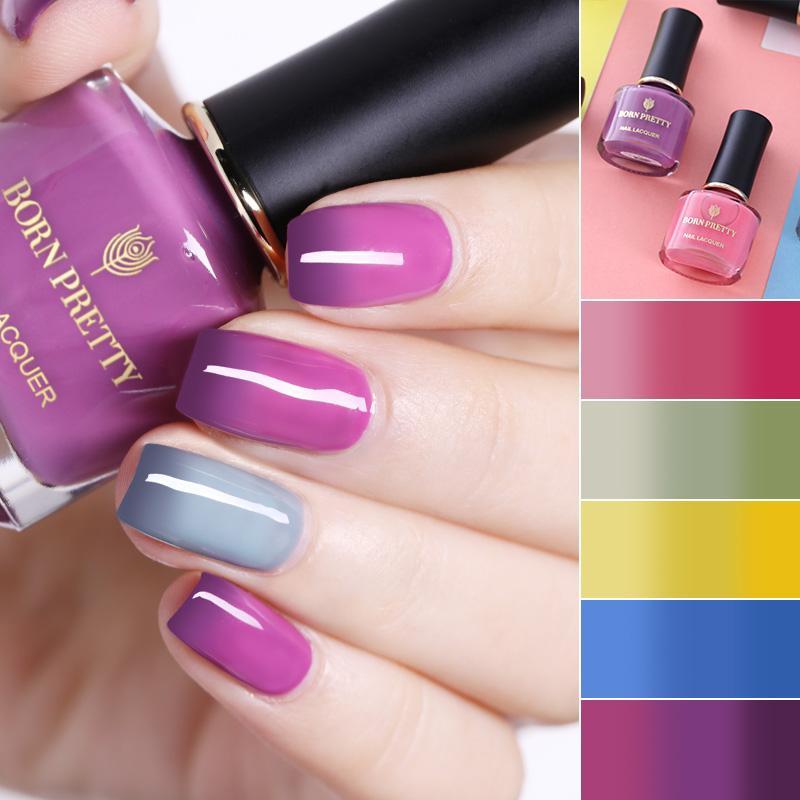 BORN PRETTY Temperature Color Changing Nail Polish Long Lasting ...
