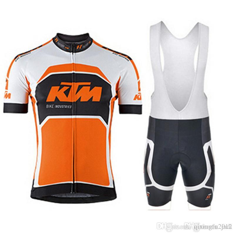 fe9efbae50 Compre KTM 2018 Homens Camisa De Manga Curta Camisa De Ciclismo MTB ...