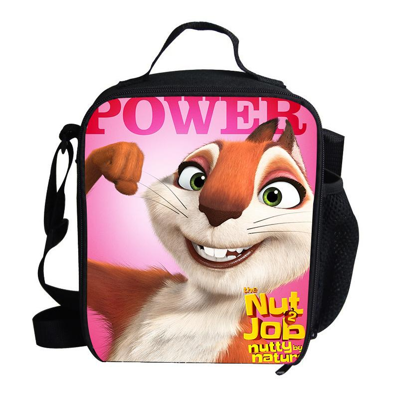 9e5b3b65e8c0 Fashion Cartoon The Nut Job 2 Nutty By Nature Print Cooler Lunch Bag For  Kids School Boys Girls Lunch Bags For Kids Children Wallet Purse Brown  Leather ...