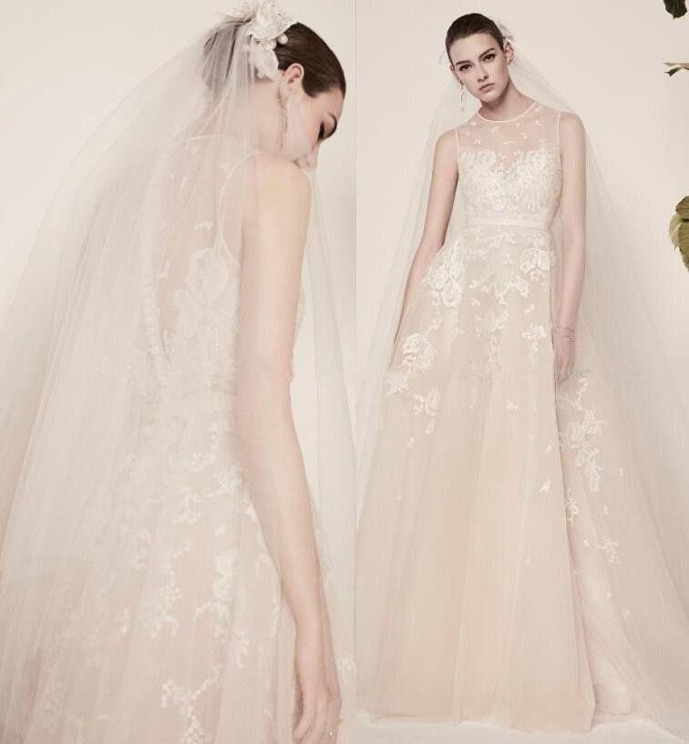 Discount Elie Saab Lace Wedding Dresses Illusion Bridal Dress For ...