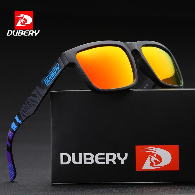 2df0ff0773 DUBERY Polarized Sunglasses Men Brand Designer Hot Biking Driving Shades  Sun Glasses For Men Rectangle Eyewear Male UV400 Oculos Custom Sunglasses  Heart ...