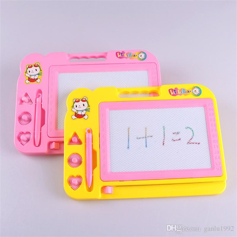 Magnetische Reißbrett Skizzenblock Doodle Schreiben Zeichnen Spielzeug Für Kinder Kinder Puzzle Graffiti Malerei Liefert 5 8kl W