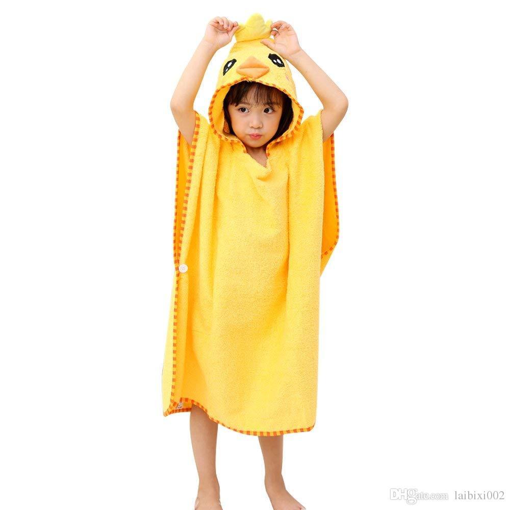 2019 Baby Kids Hooded Swimming Beach Bath Towel Girls Boys Cotton Poncho  Cartoon Animal Bathrobe Adult Children Soft Robe Blanket XL For Age 8 A  From ... 241b9862f
