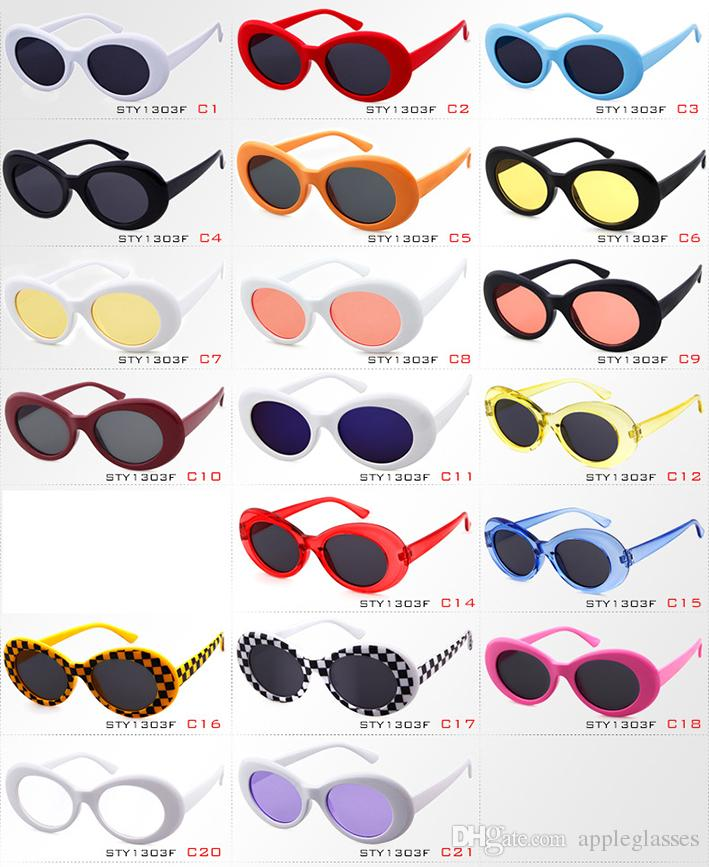 29624b5563 Clout Goggles NIRVANA Kurt Cobain Glasses Classic Vintage Retro Oval Sunglasses  Shades Sun Glasses Punk Rock Unisex Women Men Round Sunglasses Cheap ...