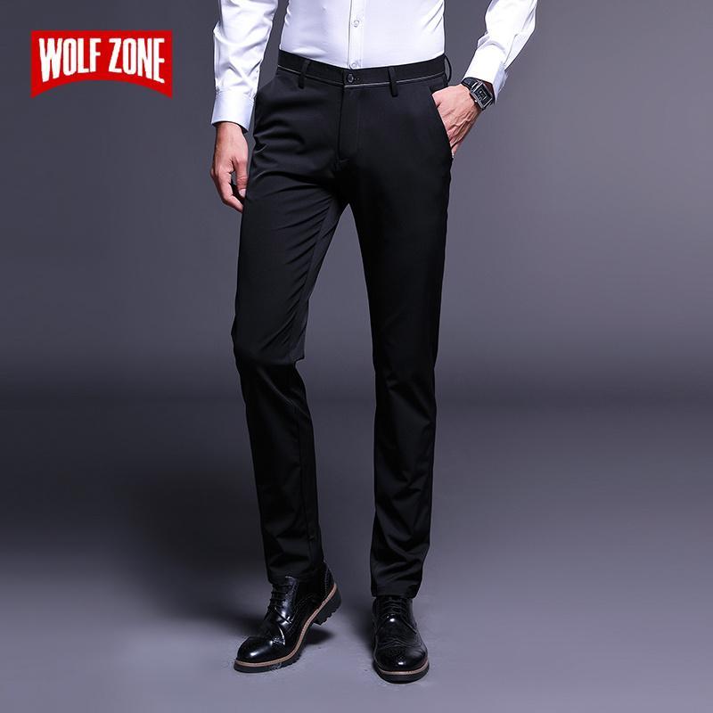 Compre Marca De Moda De Lujo Pantalones Casuales Hombres Slim Fit Mens  Classic Clothing Nuevo Otoño Invierno Para Hombre Adulto Traje De Negocios  Negro ... 80814d822c9d