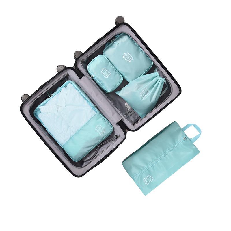 feaf5fce22 Compre 5 Pçs   Set Poliéster Dobrável Saco De Viagem Mulheres Underwear  Shoes Organizador De Classificação De Moda Embalagem Cube Turismo Bolsa  Acessórios ...