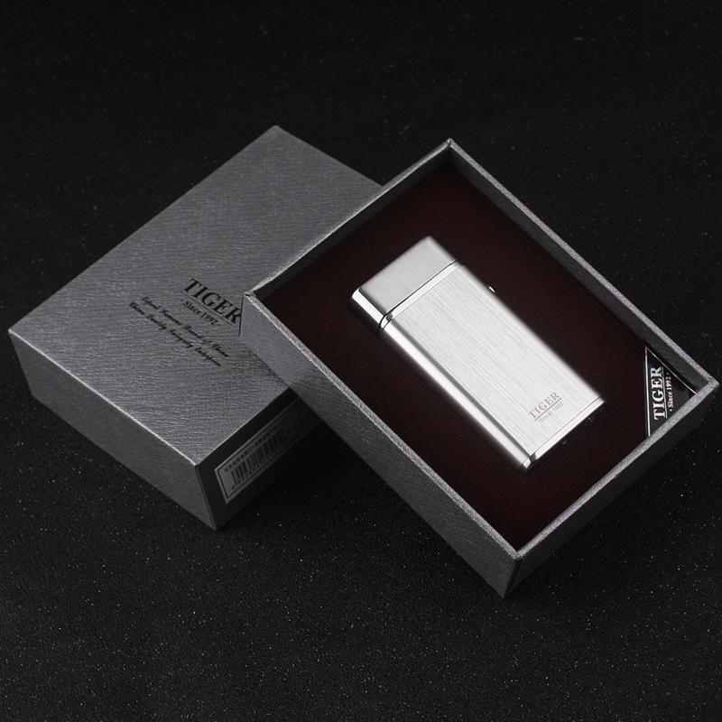 Kaplan marka 921 çift ark darbe çakmak rüzgar geçirmez şarj edilebilir USB çakmak metal çakmak ile adam için hediye kutusu