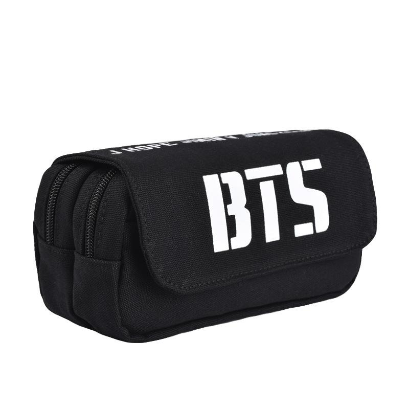 2018 Youpop KPOP BTS BTS Bangtan Boys Album Canvas Jewelry Admission  Package Big Pencil Bags Cosmetic Case SJB711 From Rainbowwo c7525010a45e