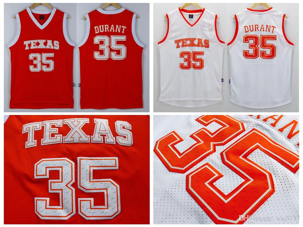40a86df3 ... norway best mens texas longhorns college ncaa 35 kevin durant jersey  orange white kevin durant stitched