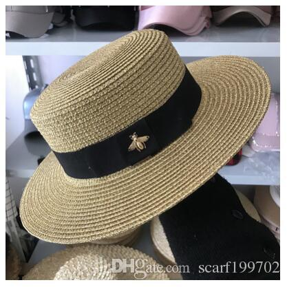 58b98e100a9 Ladies Summer Straw Hat Youth Hats For Women Shade Sunhat Beach Caps  Leisure Hat Store Fedora Hats For Men From Scarf199702