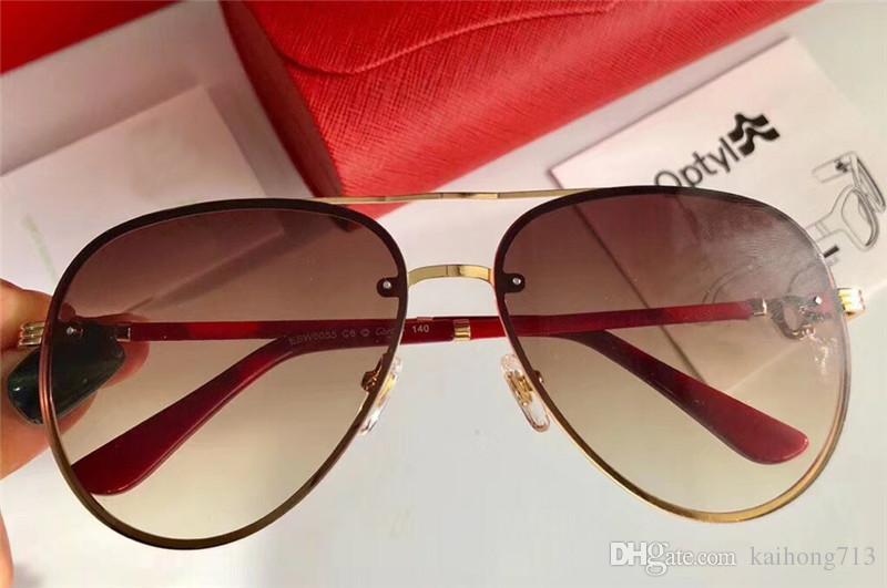 25907a5a92980 Compre Nova AAAAA 0055 Marca De Moda De Luxo Clássico Carro Esportivo Óculos  De Sol De Melhor Qualidade De Metal Homens E Mulheres Modelos UV400 De ...