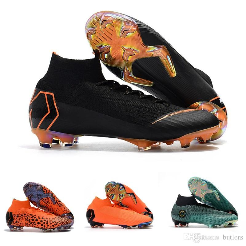 official photos b6814 bd6c5 2019 Mercurial Superfly SuperflyX KJ VI XII 360 Elite Ronaldo 6 12 CR7 FG TF  IC High Mens Women Boys Soccer Shoes Cristiano Football Boots Cleats From  ...