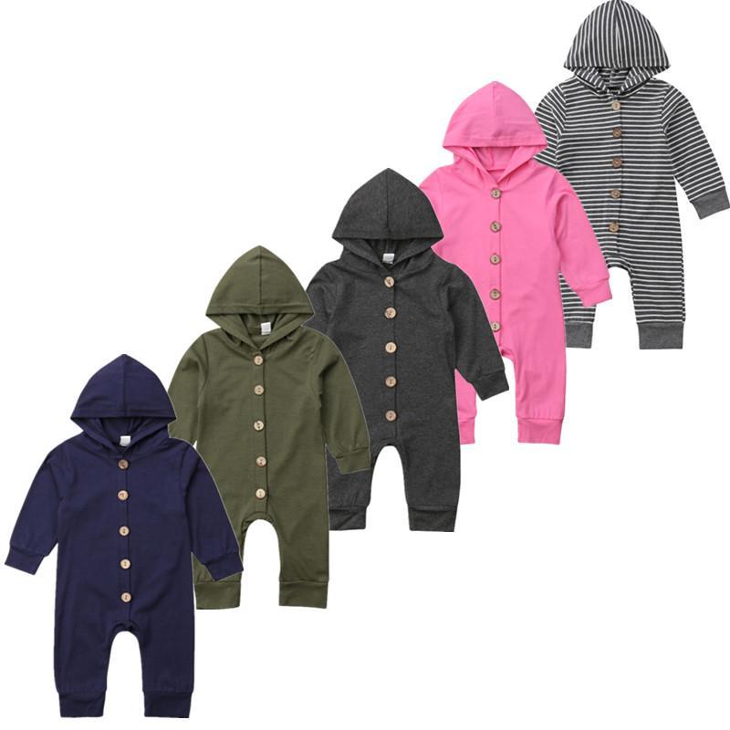f52f01af4 Autumn Newborn Infant Baby Boy Girl Kids Long Sleeve Cotton Hooded ...