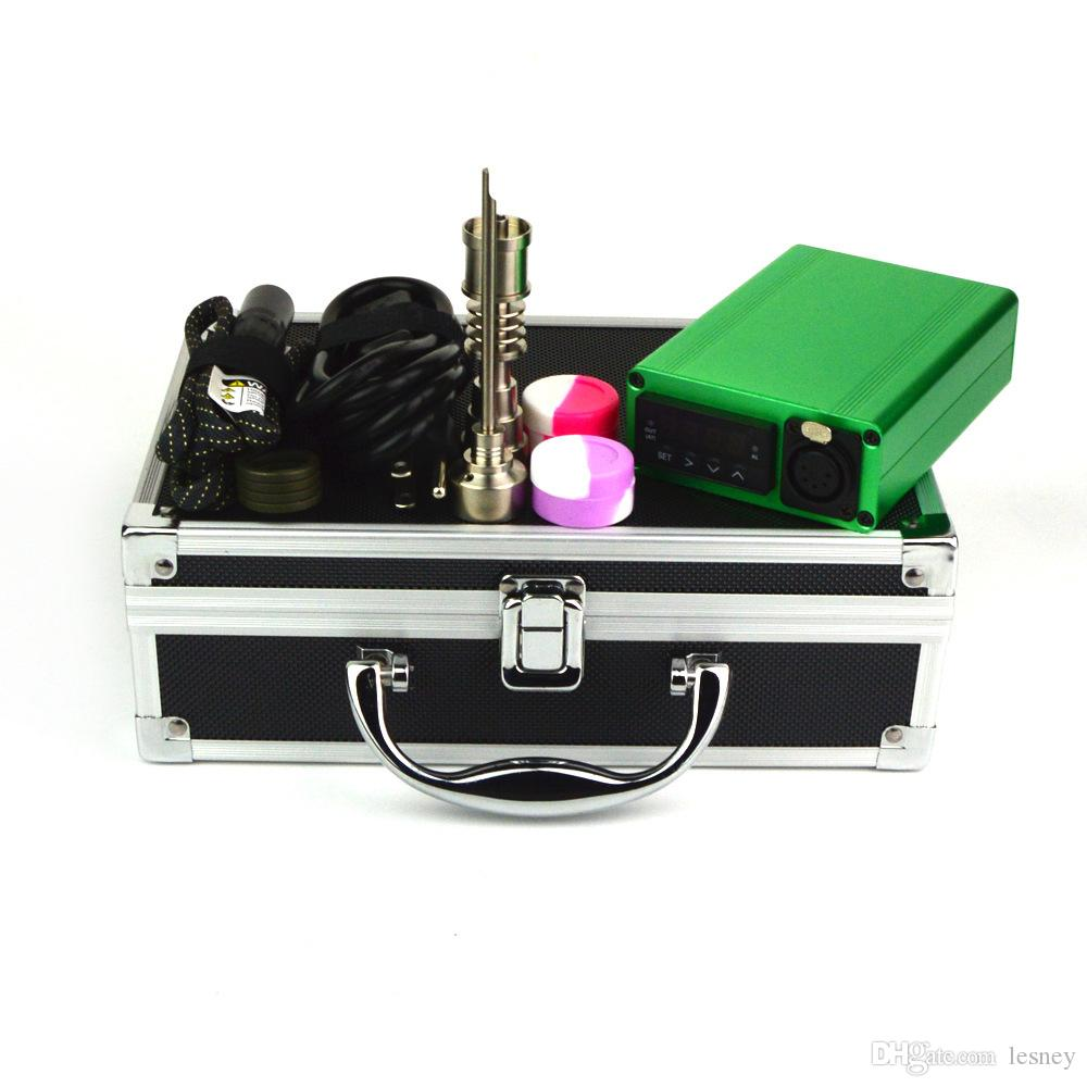 Electric Dab Nail Box Kit 10 16 20 mm heater coil 1000c Maximum Temperature E_nail Kit Accessories For Dab Oil Rig WKQ-01