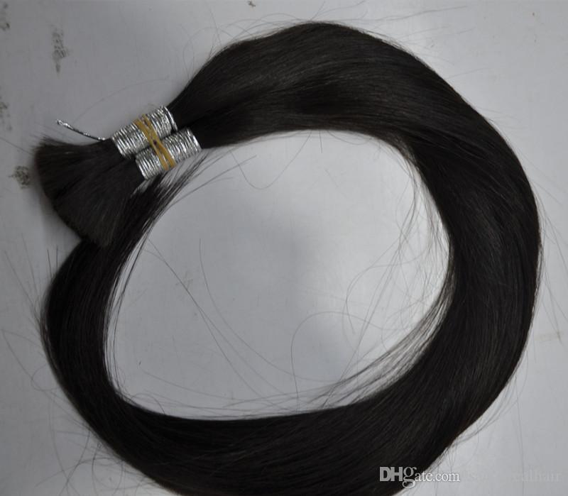 Yüksek kaliteli Brezilyalı Saç 100g İnsan Saç Örgüler Toplu Hiçbir Atkı Düz dalga, Doğal Renk 100g paket 2 Demetleri tek Ücretsiz DHL