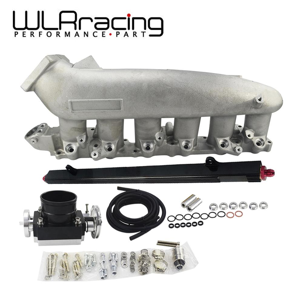 WLR RACING - Cast Intake Manifold FOR 240SX RB25det RB25 Skyline 80MM  Throttle Body Fuel Rail WLR-IM32-SL 6980 5439