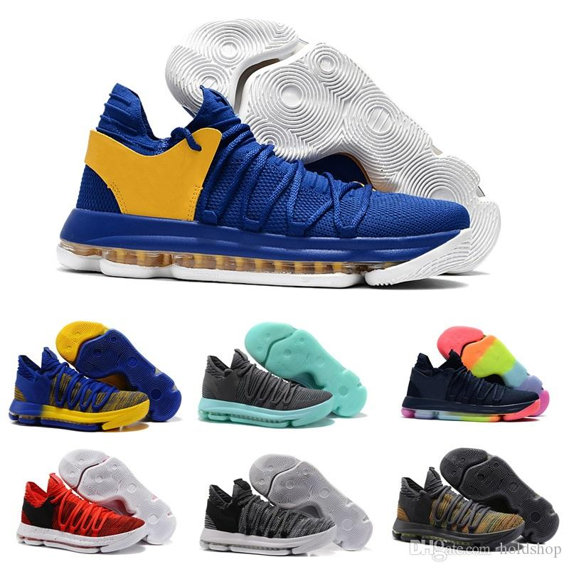 92fe7bb67e756a Newest Basketball Shoes Zoom KD 10 Anniversary PE Men KD X Elite Low Kevin  Durant Athletic Sports Trainers Designer Sneakers Canada 2019 From Holdshop