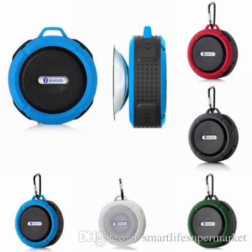 Impermeável Sem Fio Bluetooth Mini Speaker SHOWER Car Sucção Hands free + Mic
