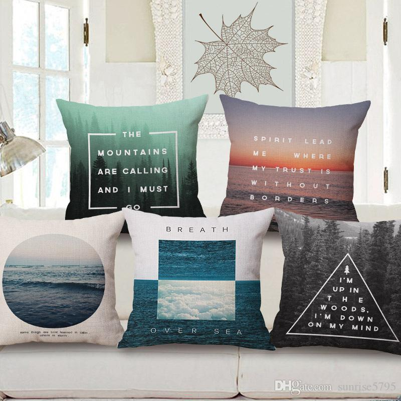 Nordic Quotes Cushion Cover Decorative Vintage Pillows Case Fascinating Decorative Pillows With Quotes