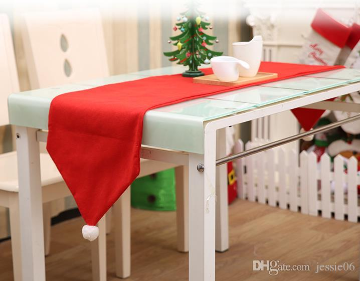 Christmas Table Runner Diy.Christmas Table Runner For Dinner Party Wedding Birthday Holiday Diy Decoration Non Woven Banquets Red 34cmx176cm