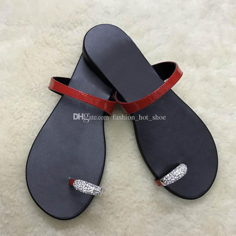 be9cfcf2a Cheap Hot Designer Crystal Womens Summer Flip Flops Flatsl Sheepskin ...