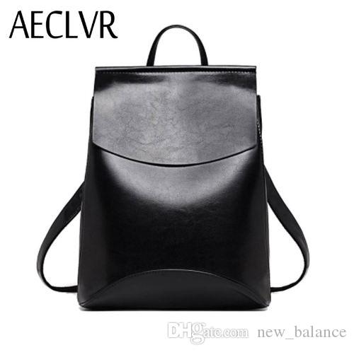 7944d5c19b AECLVR Fashion Women Backpacks Quality Pu Leather School Backpacks ...