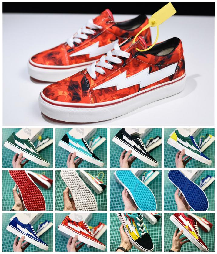 fd677bf0254 2019 2018 Newest Revenge X Storm 3 Old Skool Green Blue Black Red Yellow  Mens Women Canvas Shoes Kendall Jenner Ian Connor Skate Sneakers From  Skddgs520