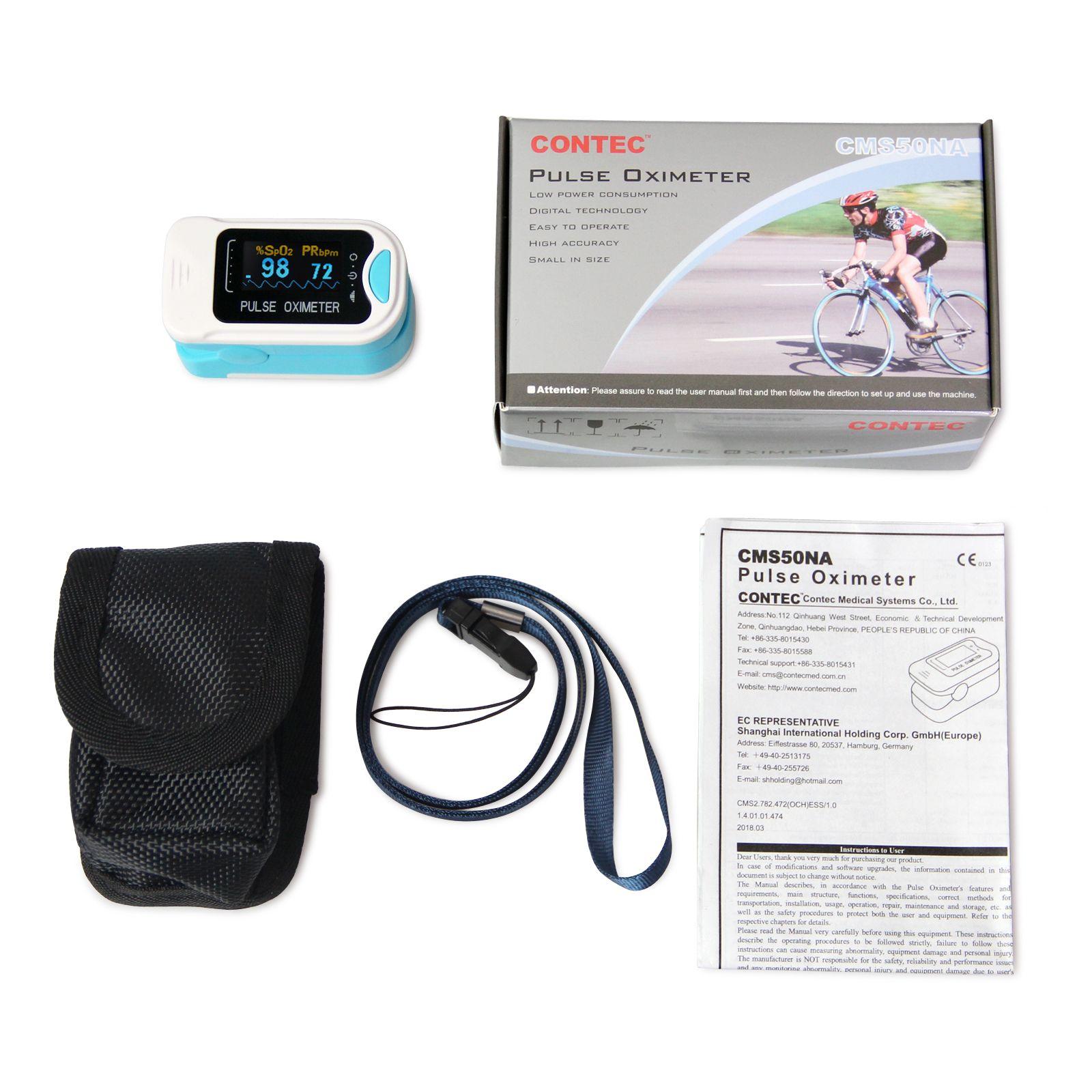 New hot OLED CONTEC Fingertip oxymeter spo2,PR monitor Blood Oxygen Pulse  oximeter LED Screen CMS50NA