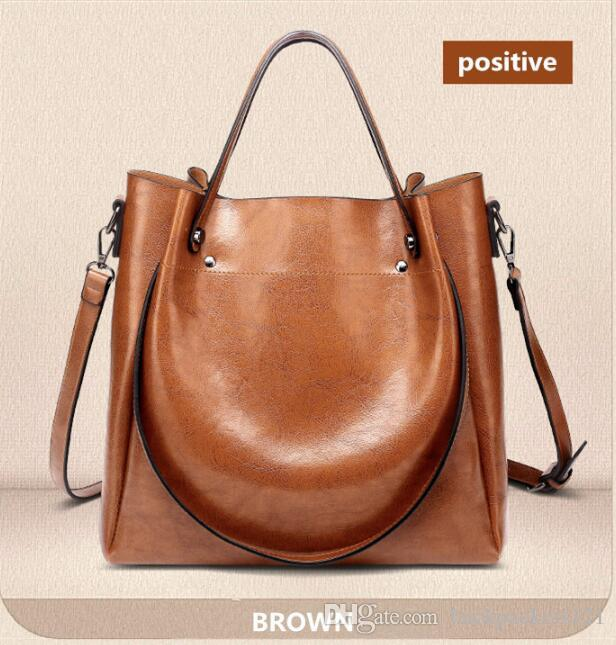 c659e119d524 Fashion Luxury Ladies Messenger Bag Large Capacity Simple Office Lady Bag  Oil Wax Women S Leather Handbags Laptop Bags Briefcase From Backpackers121