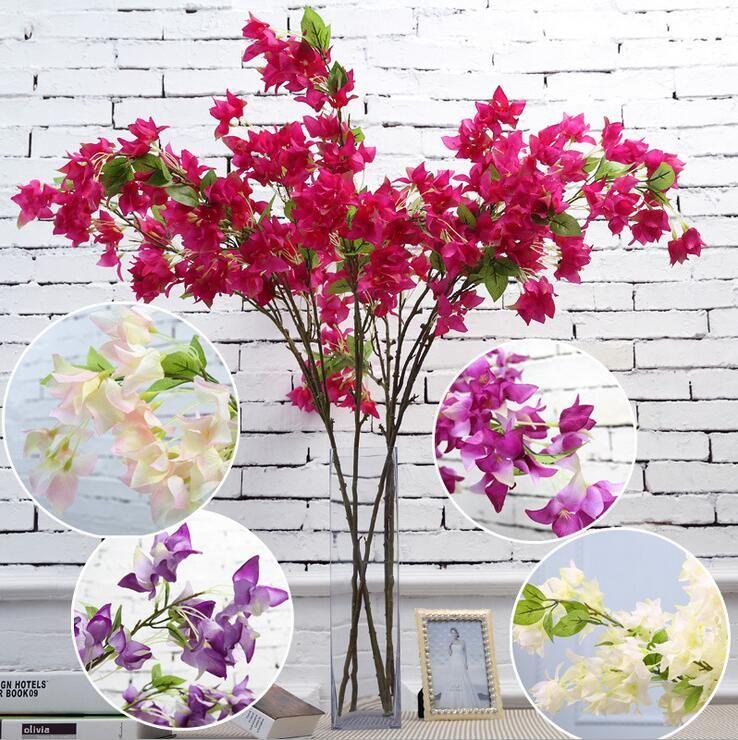 Artificial bougainvillea speetabilis optional wedding decoration sakura 46Inch 120 cm long SF011