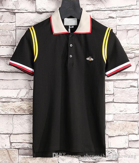Лето модельер бренды luxurys марки одежда мужчины ткань письмо футболка поло отложным воротником случайные женщины г футболка майка топы 31