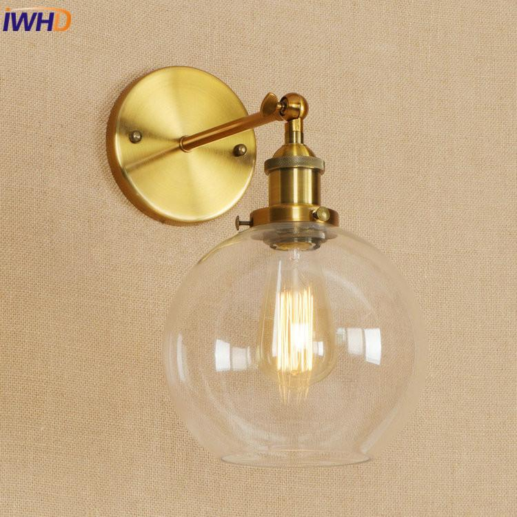 Led Indoor Wall Lamps Hot Sale Iwhd Glass Vintage Retro Led Wall Light Fixtures Red Metal Loft Industrial Vintage Wall Sconce Edison Wandlampen Home Lighting Led Lamps