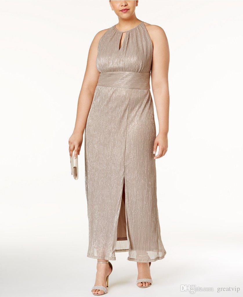 2019 R&M Richards Mother Of The Bride Dresses Halter A Line Sash ...