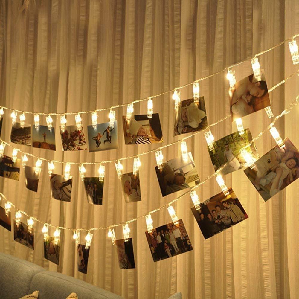 Grosshandel Led Foto Clip Lichterketten 20 Wascheklammern 20ft Zum