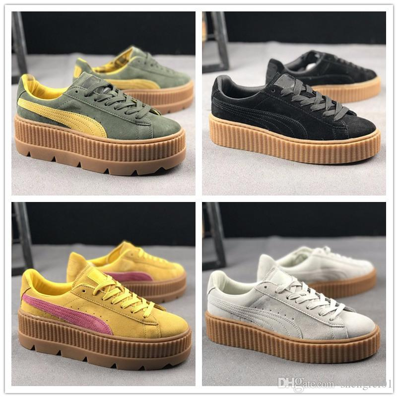 ... 2018 New Charity Fenty Suede Cleated Creeper Womens Fenty Creepers By  Rihanna Shoes PM Casual Shoes ... 7b0fcb5aa