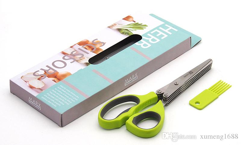 2021 Minced 5 Layers Basil Rosemary Kitchen Scissor Shredded Chopped  Scallion Cutter Herb Laver Spices Cook Cut Tool From Xumeng1688, $4.88    DHgate.Com