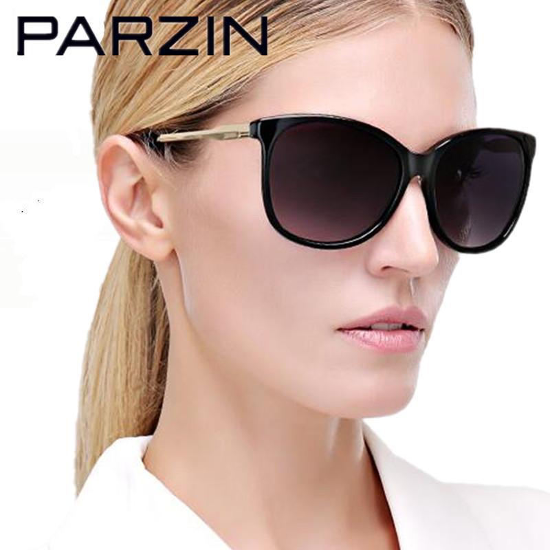 Compre Parzin Handmade Óculos Polarizados Mulheres Uv 400 Feminino Condução  Óculos De Sol Elegante Luneta De Soleil Com Case Preto 9625 De Viulue, ... 991bd21d35