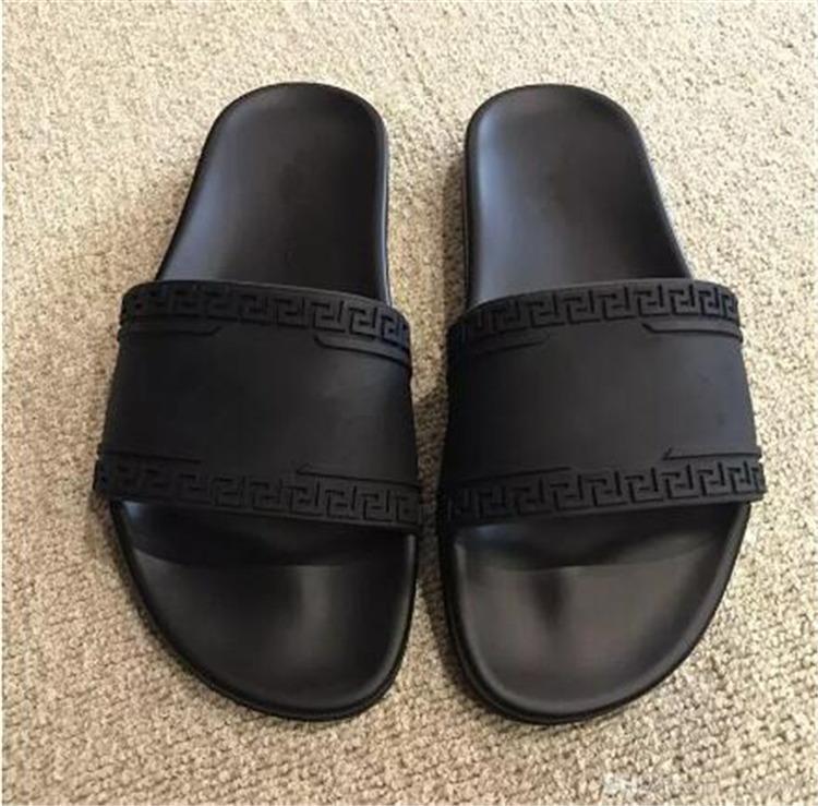 v043versace designer slides women men sandals europe brand fashion