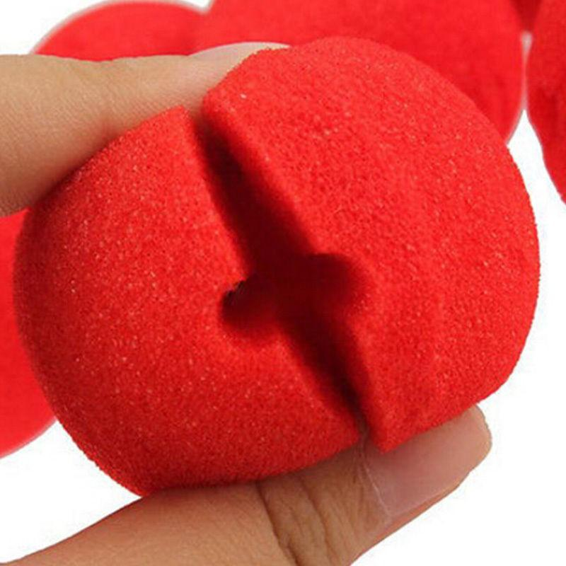 10 pcs Circus Clown Nose Adorable Red Ball Foam Comic Party Halloween Party  Costume Magic Dress D