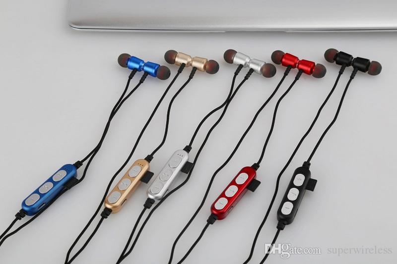 Auriculares MS-T15 inalámbrica Bluetooth estéreo de auriculares deportivos magnética BT 4.2 auriculares auriculares con micrófono para iPhone Samsung
